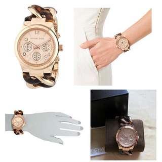 MK琥珀玫瑰金三眼手錶 Michael Kors MK-4269美國購入 (正品)