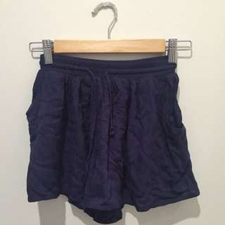 cute navy blue drawstring shorts