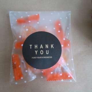 『 藍莓生活雜貨 』Zakka 氣質點點霧面磨砂質感OPP包裝自黏袋 (小物/糖果/餅乾包裝)