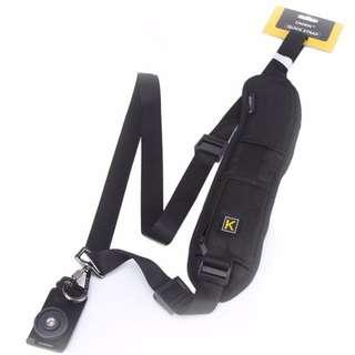 Quick Shoulder Sling Belt Strap With Zippered Pocket For DSLR / Mirrorless Camera