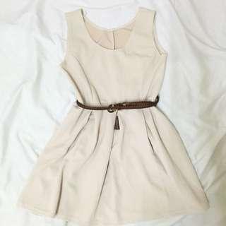 Plain skater dress