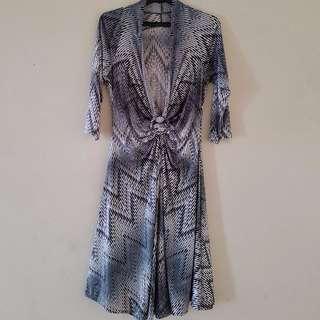 Stripe Pattern Vintage Dress