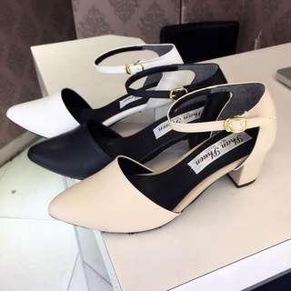 台灣手工低跟優雅繞踝鞋