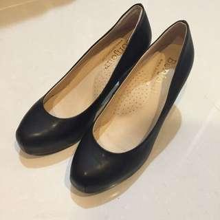 黑色 高跟鞋 防水台 36號