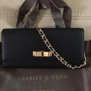 Charles & Keith (小CK) 黑色皮夾(2用)