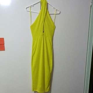 MISSGUIDED Halterneck Midi Dress