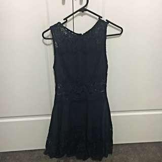 Size 8 Navy Blue Dress. Never Worn