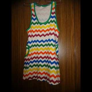 Colorful Zigzag Dress