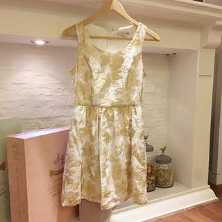 Forever21 Gold Embroided Dress
