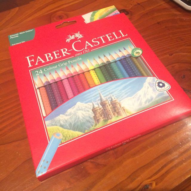 2 X 24 Fabre Castell Colour Grip Pencils