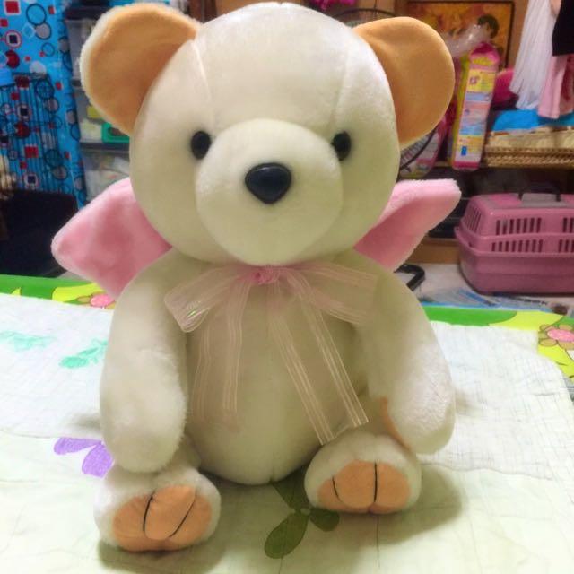 (99.9成新)天使小白熊娃娃