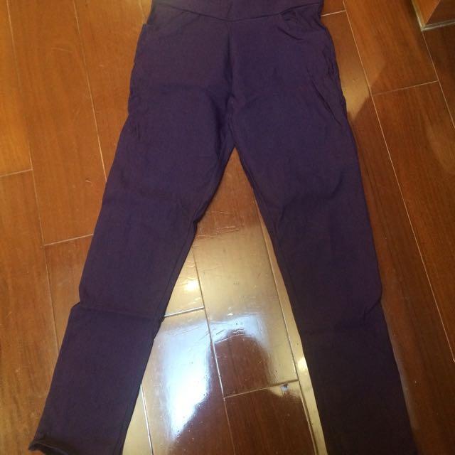 深紫色長褲