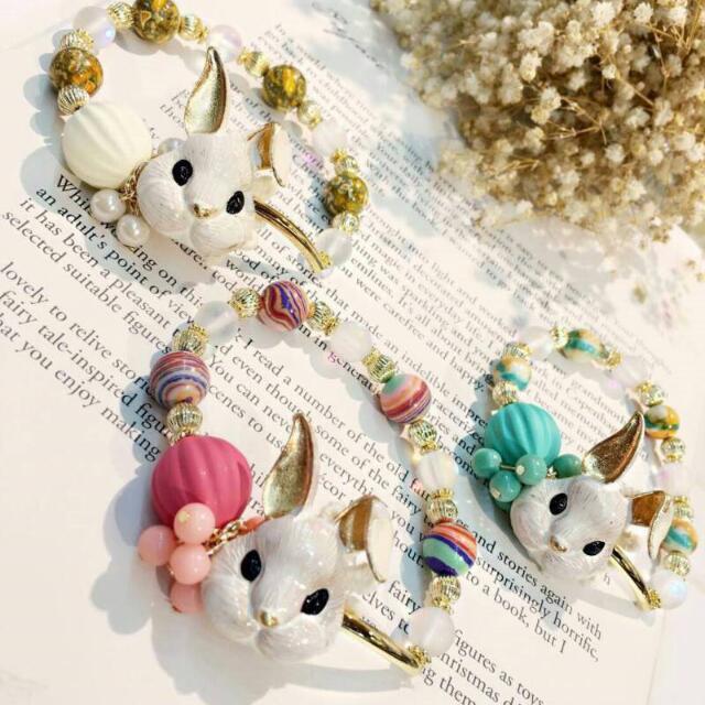🎉 韓國兔子琉璃珠手鍊