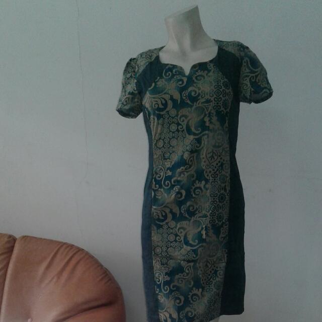 batik dress(tosca)