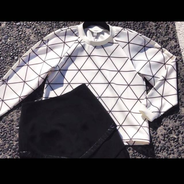 Cameo Grid Jumper From Time Pullover