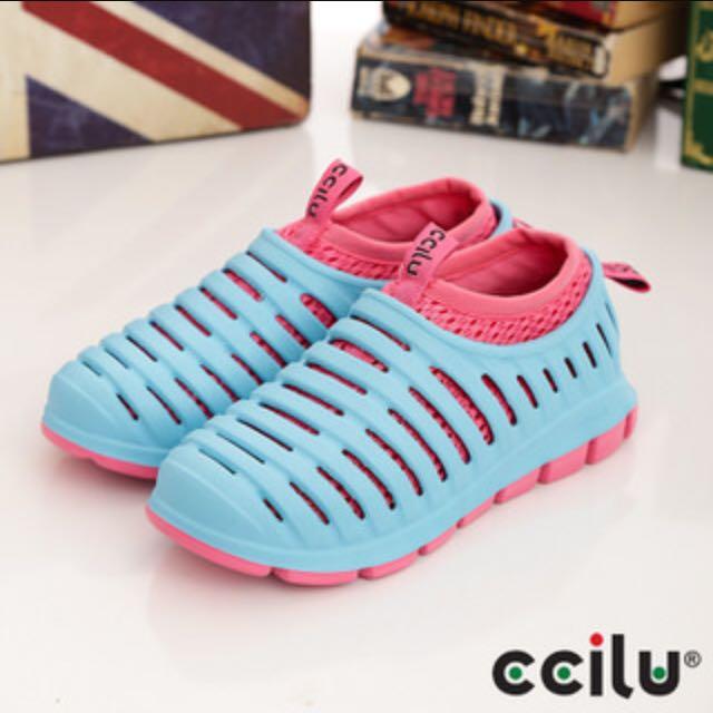 Ccilu粉藍粉紅 透氣防水鞋