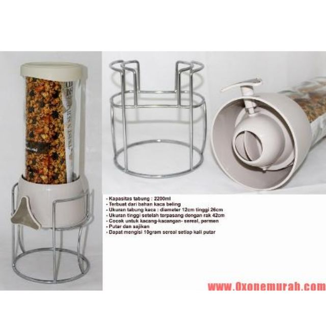 Cereal Jar With Rack Oxone (OX 343)