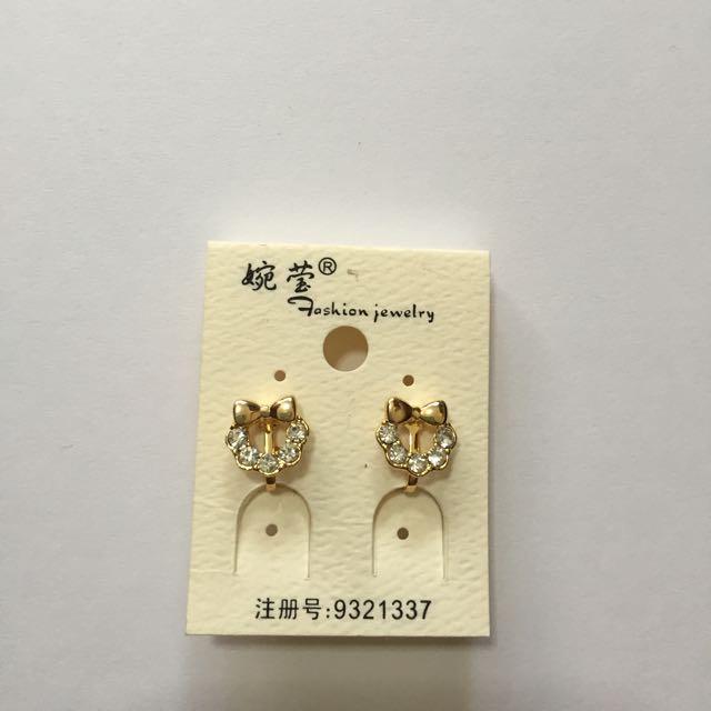 Clip On Kitty-like Earring