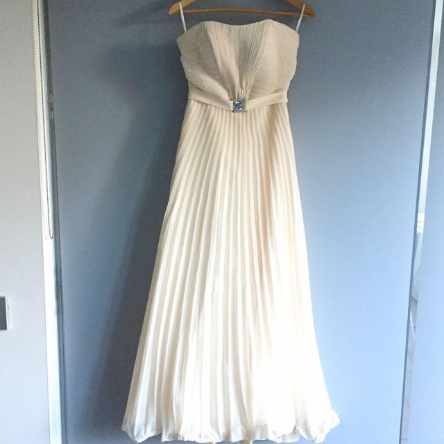 Cream Colour Chiffon Dress