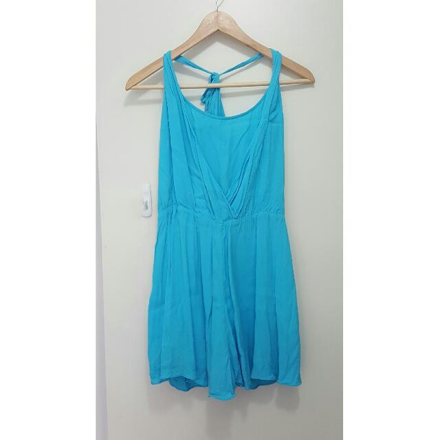 Forever New Bright Blue Playsuit