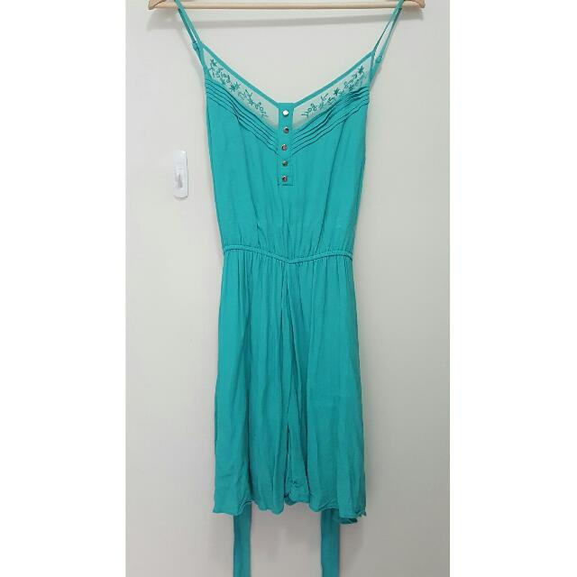 Forever New Turquoise Playsuit