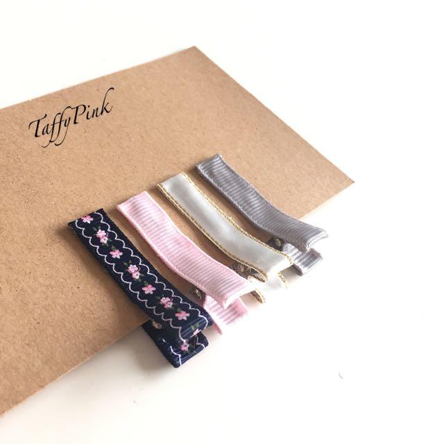 Girls/baby Hair Clip SET OF 4 - Handmade!