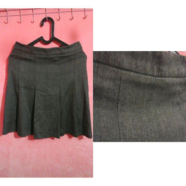 Office Wear-Grey Mini Skirt