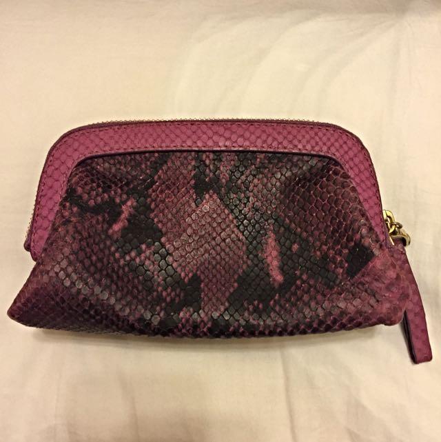 美國知名品牌Henri Bendel 紫色化妝包