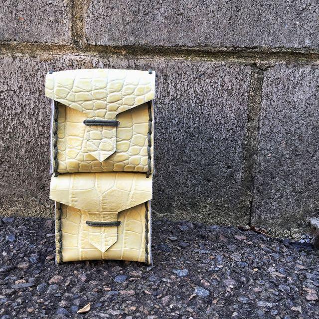 Handmade Genuine Leather Cube Bag
