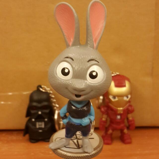 Led聲光鑰匙圈  動物方程式 兔子 朱蒂