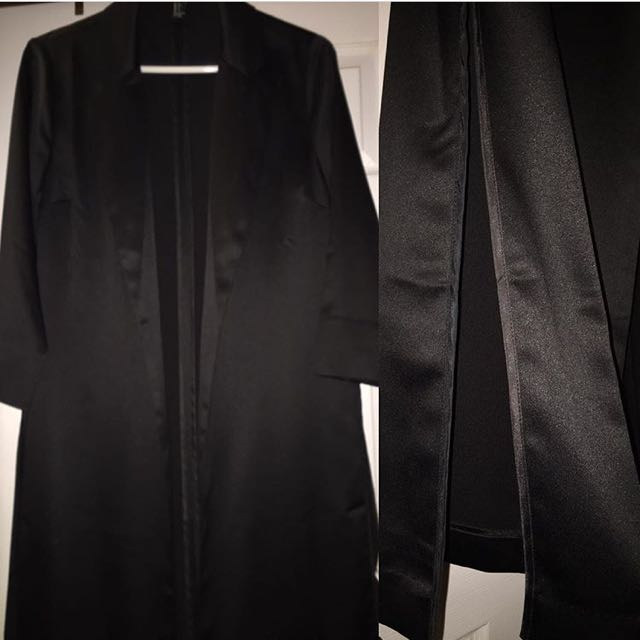 Long Blazer With Slits On The Side