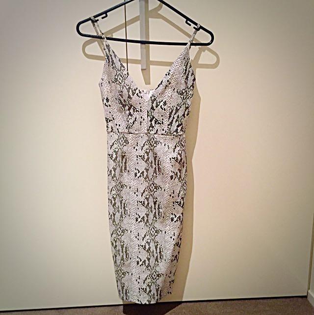 Luvalot Snake Skin Print Dress