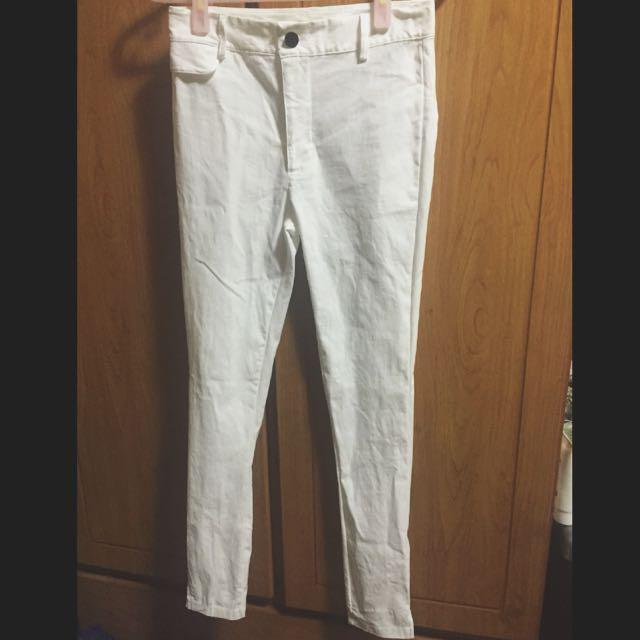 MEIER.Q 彈性褲-白色