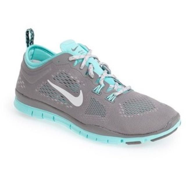 Nike Free 5.0 Tri Fit Grey / Teal / Baby Blue Size 7