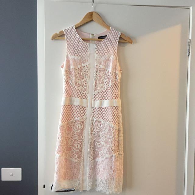 Oxford Blush Pink And Lace Dress (size 8)