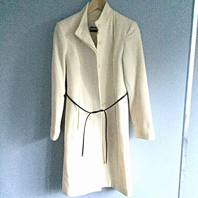 Italian Wool & Cashmere Cream Colour Wool Jacket