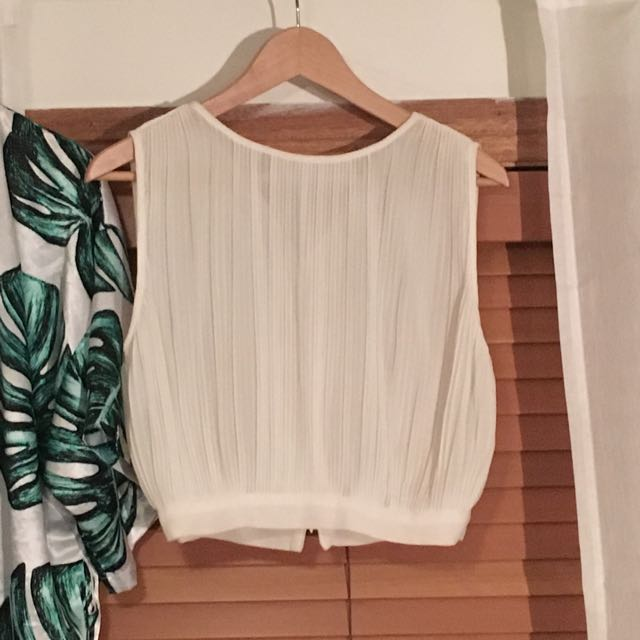 Pleated Crop Blouse