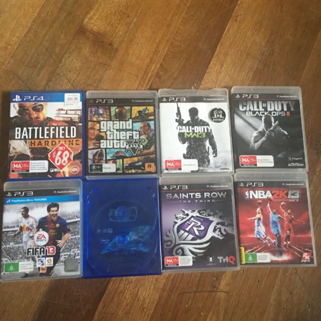 PS3 Games & One PS4 Game