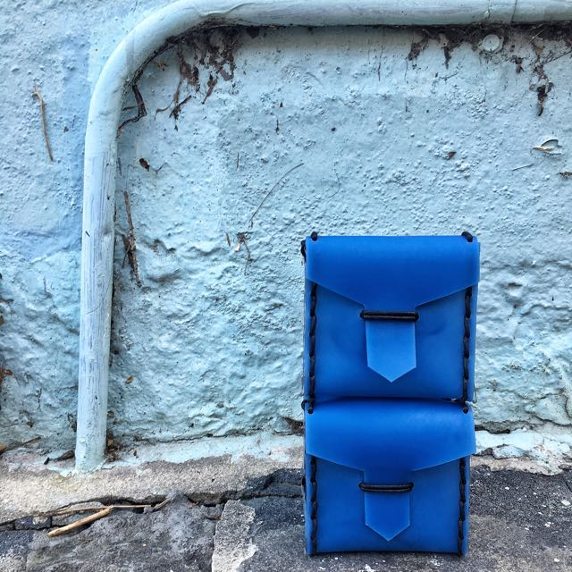 Handmade Leather Cube Bag