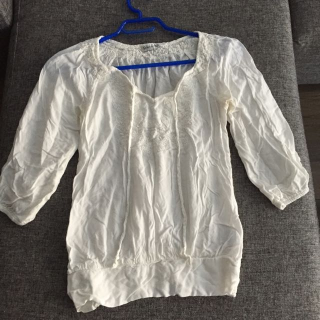 Rickis Embroidered Peasant Top