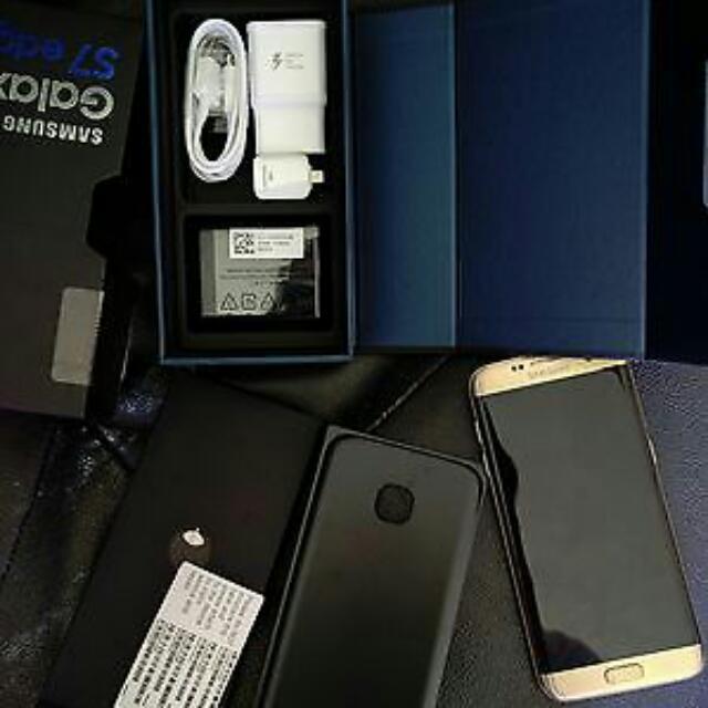 Samsung Galaxy S7 Edge  Gold SIM Free - Perfect Condition - Unlocked