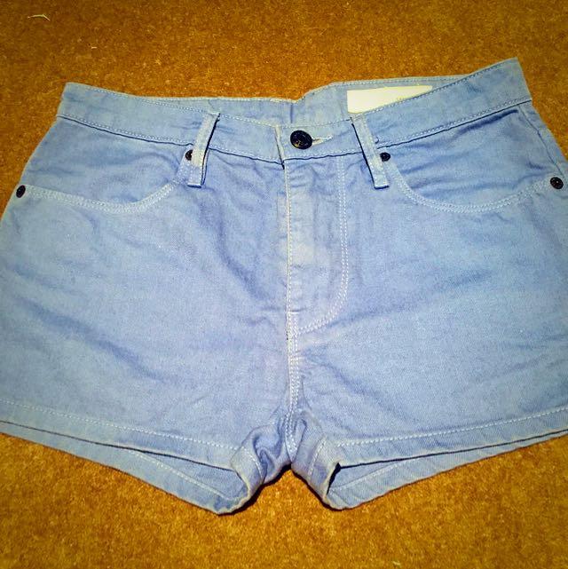 Sass and Bide Blue Denim Shorts