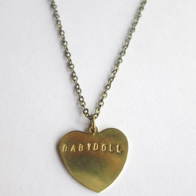 Stamped Brass Heart CUSTOM necklace