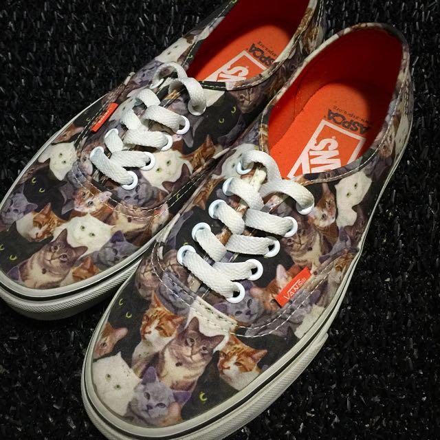 Vans  x ASPCA 滿版 貓咪 帆布鞋 板鞋