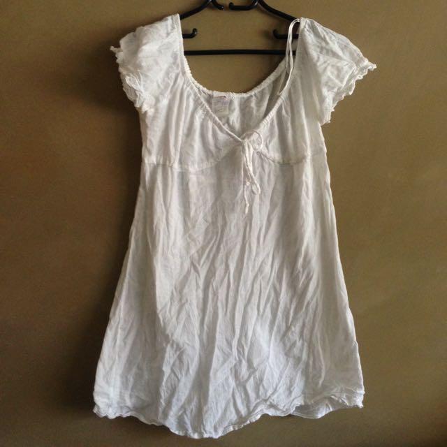 White Beach Throw Dress