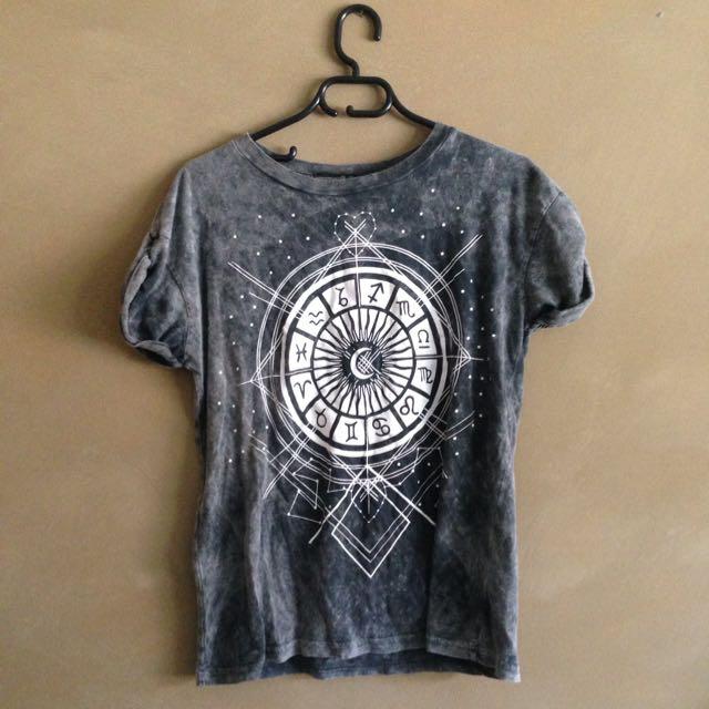 Zodiac Acid Wash T Shirt