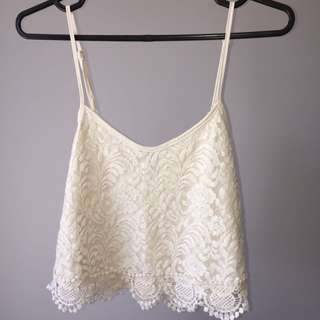 Sold!!!!! Cropped lace top (Sp)