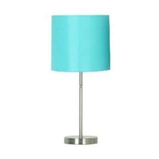 2 Turquoise Target Lamps