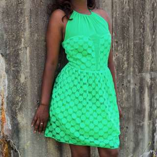 Lime Summer Midi Dress
