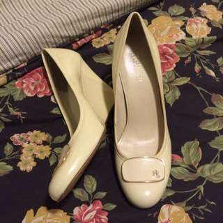 Ralph Laren Cream Wedges